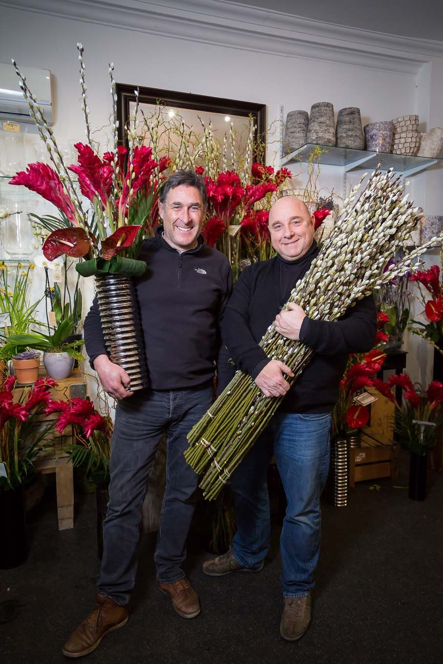 Portrait of florists in London Bloomsbury