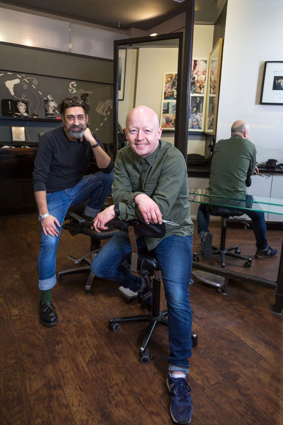 Portrait of hairdressers in London Bloomsbury