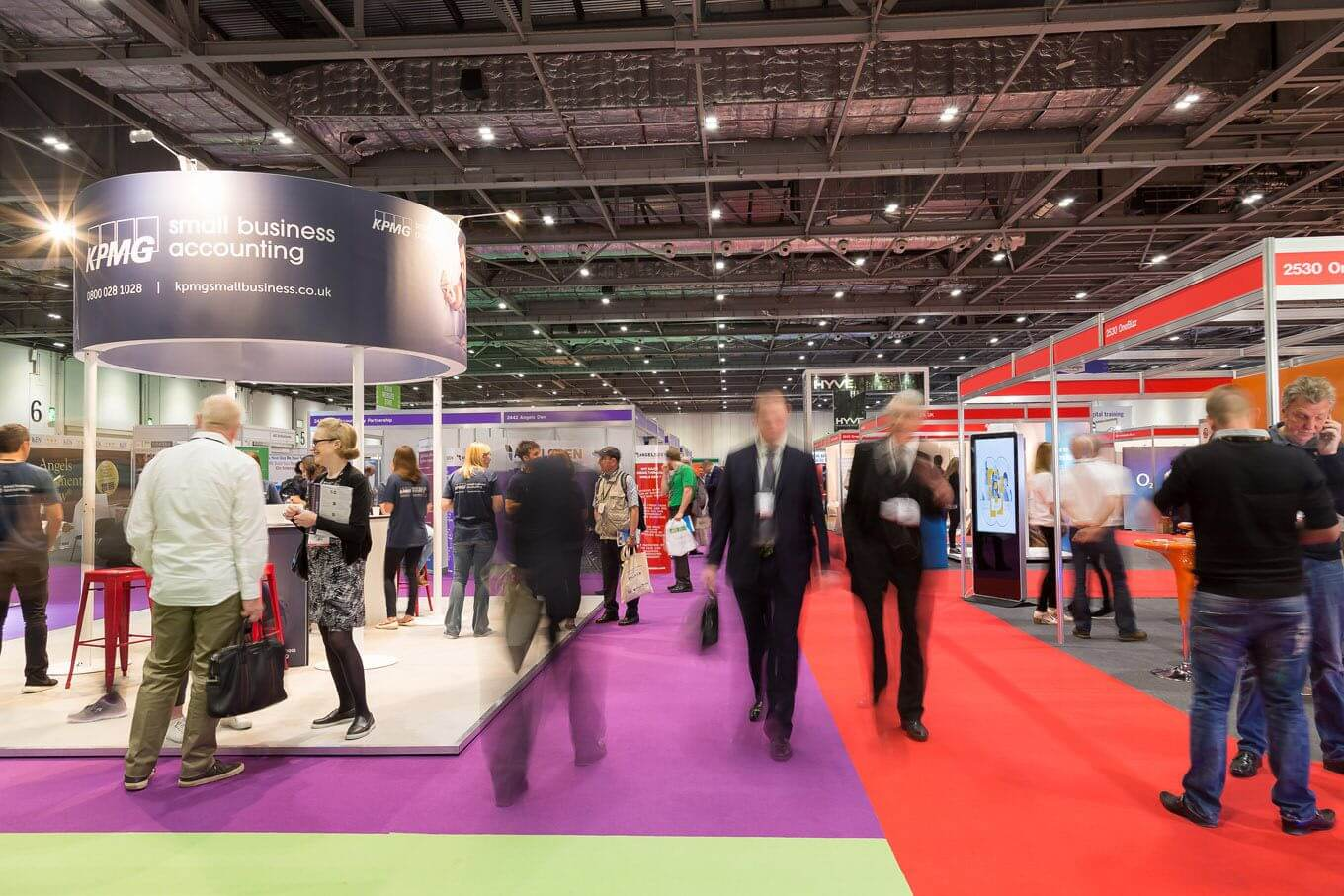 Event photography of The Business Show at ExCel London taken with slow shutterspeed setting