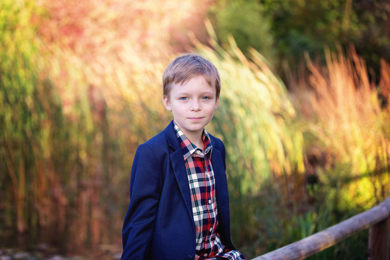 Summer outdoor portrait of a boy