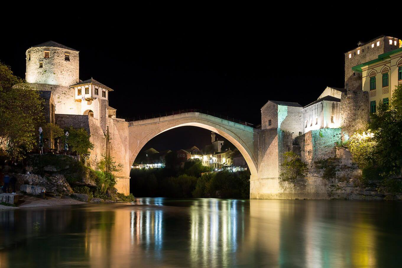 Photograph of the famous bridge Stari Most in Mostar
