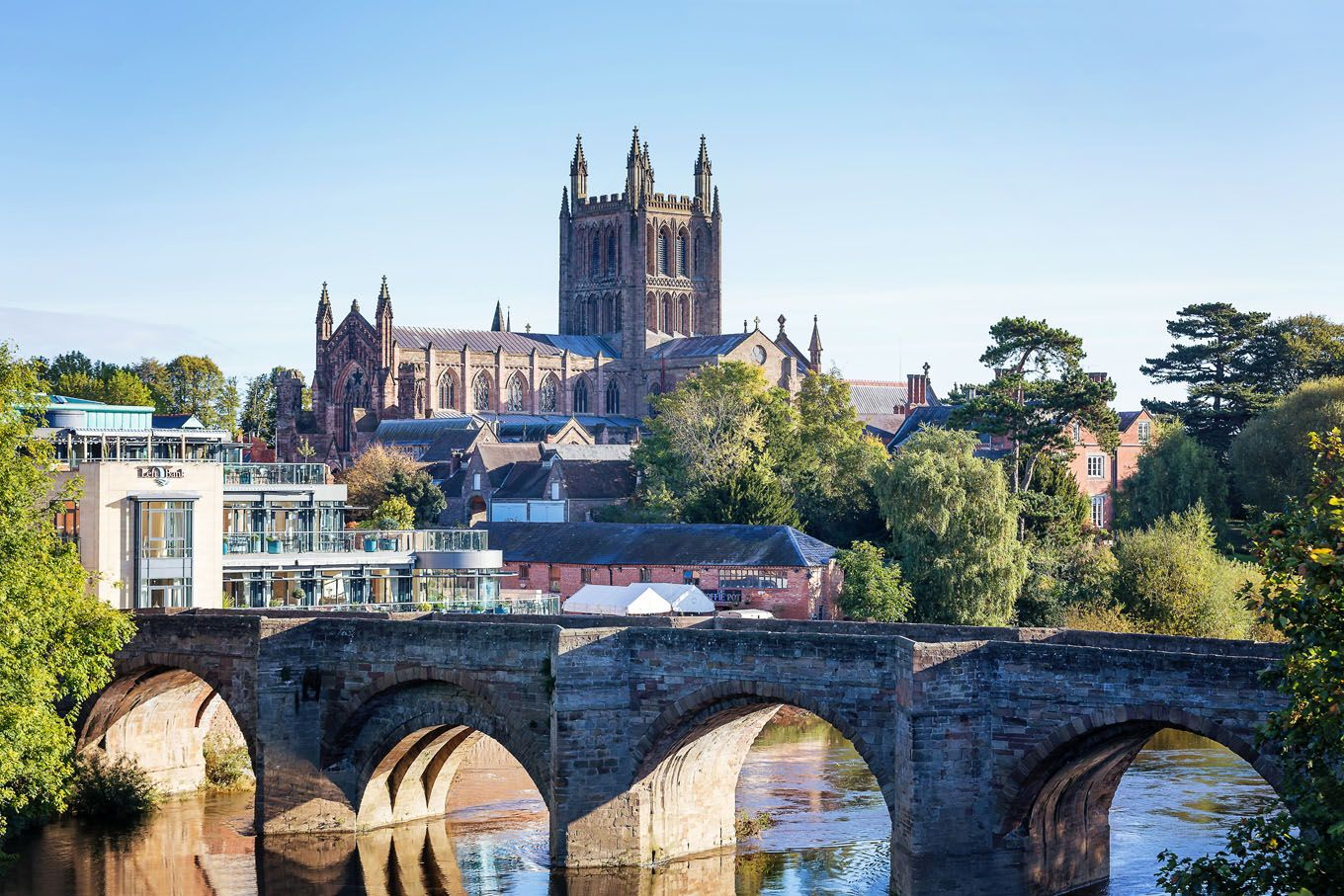 City of Hereford with Cathedral in the background